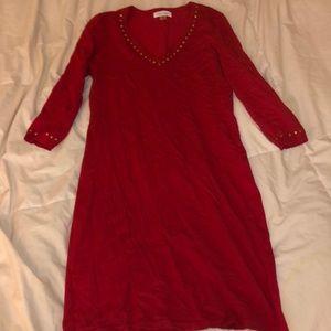 Calvin Klein Red Sweater Dress